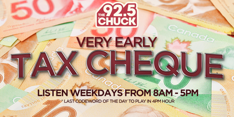 Chuck @ 925 VERY EARLY TAX CHEQUE